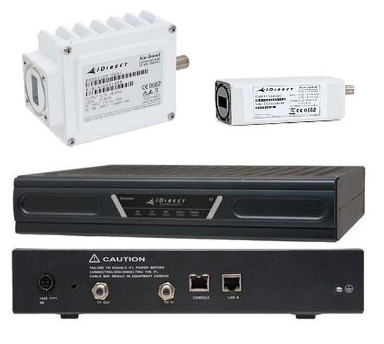 iDirect X3 Satellite Router with 3W Universal Ku-Band ODU Bundle